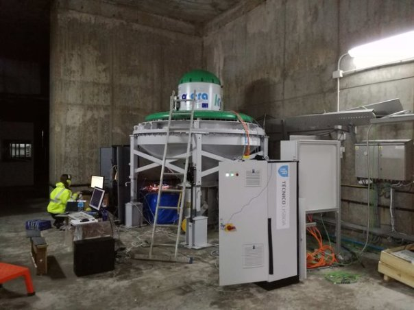 The biradial turbine installed at the Mutriku power plant W640